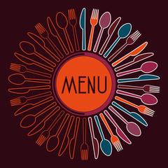 Idea Silhouette design for restaurant orange