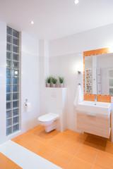 Colorful design of bathroom