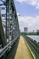 The Truong Tien bridge in Hue in Vietnam