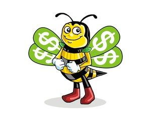 bee wasp hornet character image vector