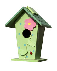 Casetta di legno colorata
