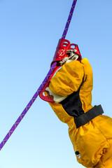 Alpine ascending devise in use