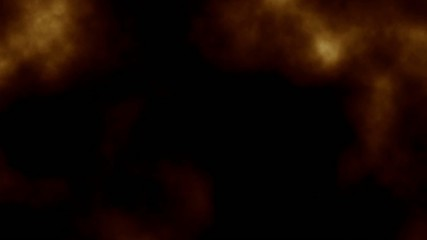 seamless loop of golden smoke fractal style on black background