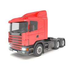 cargo truck - red - shot 36