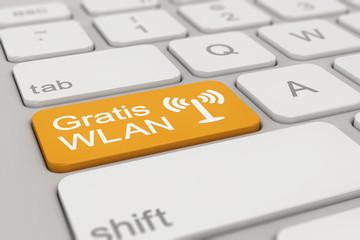 keyboard - Gratis WLAN - orange