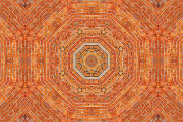 Brick wall kaleidoscopic pattern