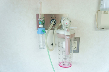 病室の酸素装置