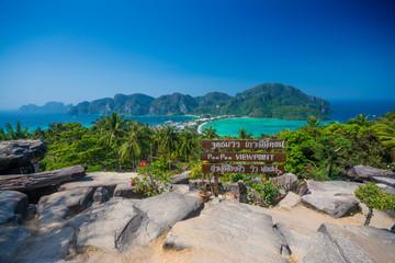 Travel background - Phi-Phi island, Krabi Province, Thailand