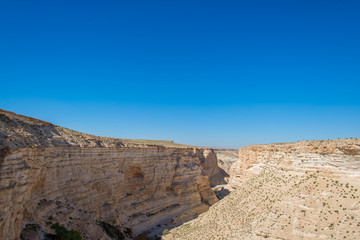 Canyon in the desert of the Negev, Israel
