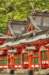 日本の神社の風景