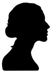 Tête femme silhouette