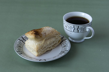 Cup of tea and a puff pastry