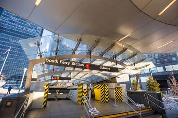 South Ferry subway entrance in Manhattan