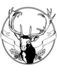 fallow deer sign illustration