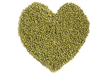Heart of raw mung beans