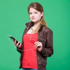 listening music by smartphone