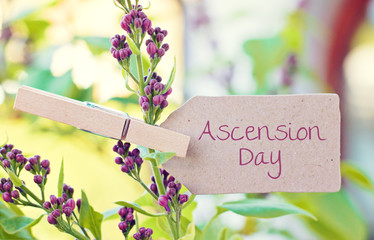 nature greeting card background - Ascension Day