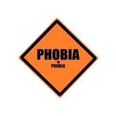 Phobia black stamp text on orange background