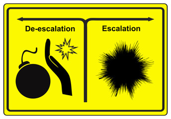 Escalation or De-escalation, the choice between war and peace