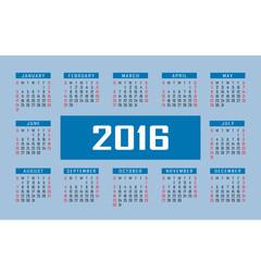 Calendar for 2016. Vector