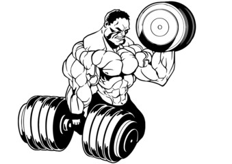 muscular bodybuilder workout