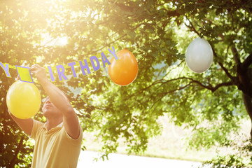 Ballone aufhängen
