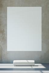 Große weiße Leinwand im Museum