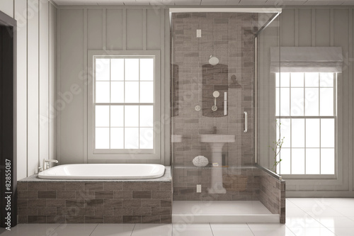 dusche und badewanne im bad stockfotos und lizenzfreie. Black Bedroom Furniture Sets. Home Design Ideas