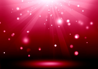 Abstract image of red lighting flare on the floor stage : Fill o