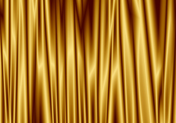 Gold curtain reflect with light spot on background.