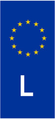 Luxembourg vehicle registration plate (L)