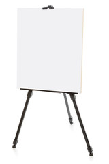 easel or flipchart isolated on white