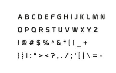 Classy English Alphabet