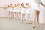 Fototapety Ballet class in dance studio