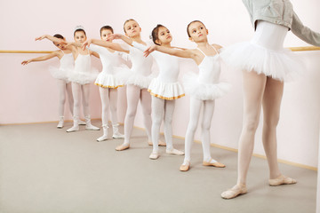 Ballet class in dance studio