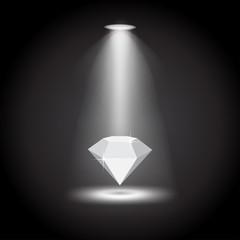 Diamond under the lights vector illustration