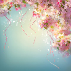 Spring Cherry Blossom Wedding Background