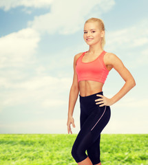 beautiful athletic woman in sportswear