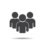 Group people icon teamwork vector illustration