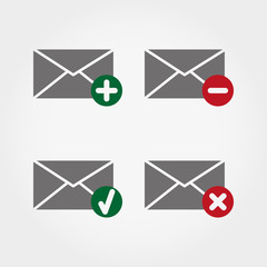 Envelopes web icons.