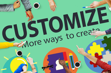 Customize Ideas Individuality Innovation Personalize Concept