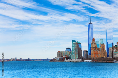 Foto op Aluminium Toronto New York view of lower Manhattan from harbor