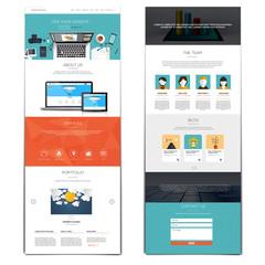Website interface template