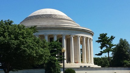 Side View of Jefferson Memorial in Morning – Washington, D.C.