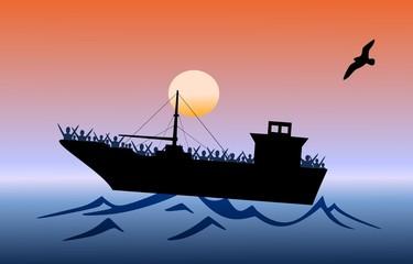 Fluechtlingsschiff