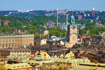 Architecture of Stockholm filtered colors