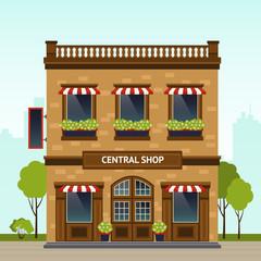 Shop Facade Illustration