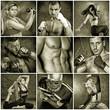 Quadro sportliche Männer und Frauen