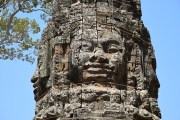 Gesichtsrelief in Ta Prohm