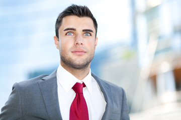 Confident businessman outdoor